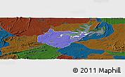 Political Panoramic Map of Igautu, darken