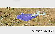 Political Panoramic Map of Igautu, satellite outside