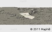 Shaded Relief Panoramic Map of Jardim, darken