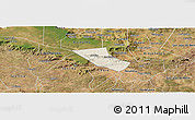 Shaded Relief Panoramic Map of Jardim, satellite outside