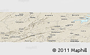 Shaded Relief Panoramic Map of Jucas