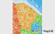 Political Shades Map of Ceara