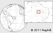 Blank Location Map of Nova Olinda
