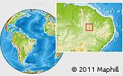 Physical Location Map of Nova Olinda