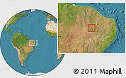 Satellite Location Map of Nova Olinda