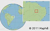 Savanna Style Location Map of Nova Olinda