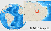 Shaded Relief Location Map of Nova Olinda