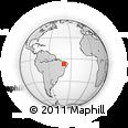 Outline Map of Nova Olinda
