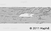 Gray Panoramic Map of Potengi