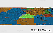 Political Panoramic Map of Potengi, darken