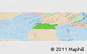 Political Panoramic Map of Potengi, lighten
