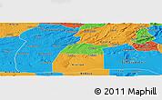 Political Panoramic Map of Potengi