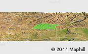 Political Panoramic Map of Potengi, satellite outside