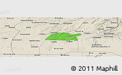 Political Panoramic Map of Potengi, shaded relief outside