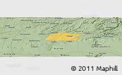 Savanna Style Panoramic Map of Potengi