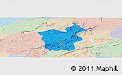 Political Panoramic Map of Saboeiro, lighten