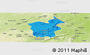 Political Panoramic Map of Saboeiro, physical outside