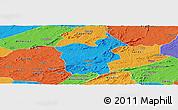 Political Panoramic Map of Saboeiro