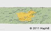 Savanna Style Panoramic Map of Saboeiro