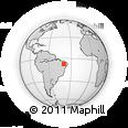 Outline Map of Santana Do Carir