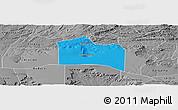 Political Panoramic Map of Santana do Carir, desaturated