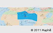Political Panoramic Map of Santana do Carir, lighten