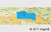 Political Panoramic Map of Santana do Carir, physical outside