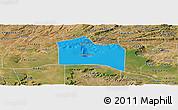 Political Panoramic Map of Santana do Carir, satellite outside