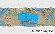 Political Panoramic Map of Santana do Carir, semi-desaturated