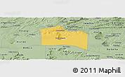 Savanna Style Panoramic Map of Santana do Carir