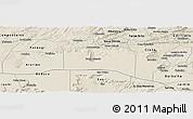 Shaded Relief Panoramic Map of Santana do Carir