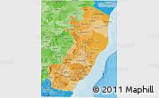Political Shades 3D Map of Espiritu Santo