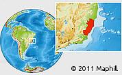 Physical Location Map of Espiritu Santo