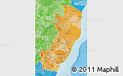Political Shades Map of Espiritu Santo