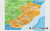 Political Shades Panoramic Map of Espiritu Santo