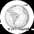 Outline Map of Brasilia