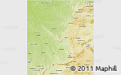 Physical 3D Map of Goias