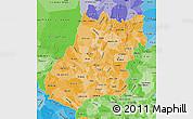 Political Shades Map of Goias