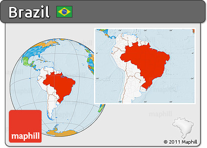 Free political location map of brazil highlighted continent highlighted continent political location map of brazil highlighted continent gumiabroncs Images