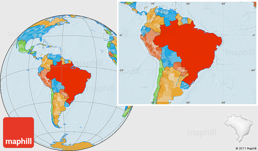 Political location map of brazil gumiabroncs Image collections
