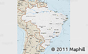 Classic Style Map of Brazil