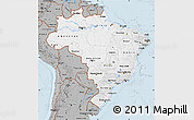 Gray Map of Brazil