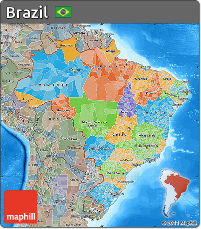 choropleth map of brazil outline