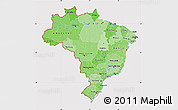 Political Shades Map of Brazil, cropped outside