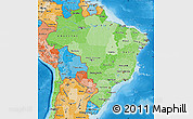 Political Shades Map of Brazil
