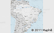 Silver Style Map of Brazil