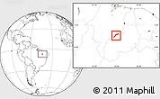 Blank Location Map of Maranhao/piaui