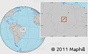 Gray Location Map of Maranhao/piaui