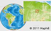 Physical Location Map of Maranhao/piaui