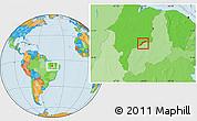 Political Location Map of Maranhao/piaui